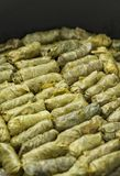Grape Leaves Stuffed Rolls Stock Image