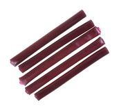 Grape Licorice rows Royalty Free Stock Images