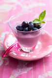 Grape mousse Royalty Free Stock Image