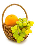 Grape and orange Royalty Free Stock Photo