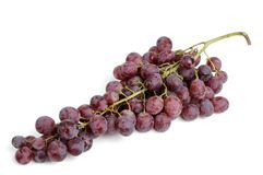 Grape over white. Red grape isolated over white Stock Photo