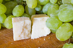 Grape and parmesan Stock Photos
