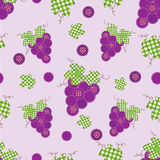Grape patchwork seamless Royalty Free Stock Photography