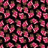 Pink grape pattern vector illustration
