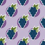 Grape pattern. Seamless texture with ripe grape Royalty Free Stock Photo