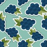 Grape pattern. Seamless texture with ripe grape Royalty Free Stock Photos