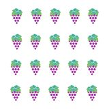 Grape pattern for textile fabric or wallpaper background stock illustration