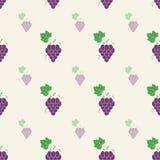 Grape pattern, Vine seamless background. Vector illustration. Grape pattern vine seamless background. Vector illustration Royalty Free Stock Images