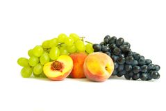 Grape and peach Stock Photography