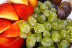 Grape and peach 2 Royalty Free Stock Image