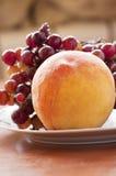 Grape and peach Stock Photo