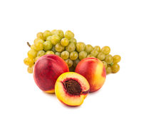 Grape and peach Royalty Free Stock Image