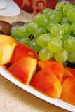 Grape and peach 3 Stock Image