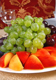 Grape and peach 9 Royalty Free Stock Photos