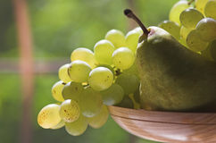 Grape and pear Royalty Free Stock Images
