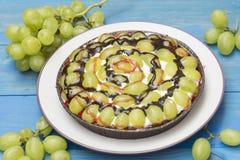 Grape pie. Grape cake, grape tart homemade Stock Photo