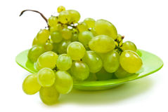 Grape on plate Royalty Free Stock Images
