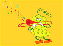 Grape that plays. This illustration can have many different purposes of use Vector Illustration