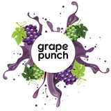 Grape punch drink Royalty Free Stock Images