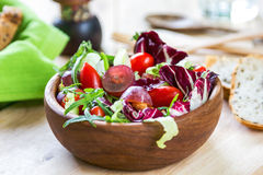 Grape with Radicchio, Rocket salad Royalty Free Stock Photos