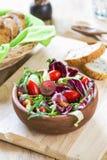 Grape with Radicchio, Rocket salad Royalty Free Stock Photography