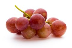 Ripe red grape isolated on white. Royalty Free Stock Images