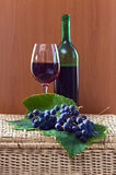Grape and red wine Royalty Free Stock Images