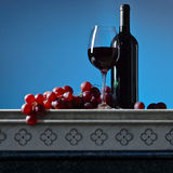 Grape and red wine Stock Photo