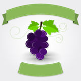 Grape with ribbon Royalty Free Stock Photography
