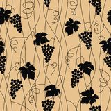Grape seamless pattern Stock Photo