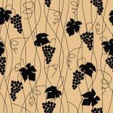 Grape seamless pattern. Vector illustration Stock Photo