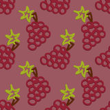 Grape Seamless Pattern Kid's Style  Hand Drawn Royalty Free Stock Images