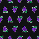 Grape seamless pattern made in a flat style Royalty Free Stock Photography