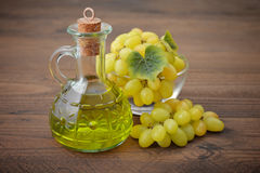 Grape seed oil Stock Image