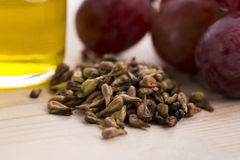 Grape seed oil Royalty Free Stock Photos