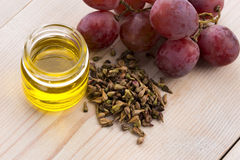 Grape seed oil Royalty Free Stock Image