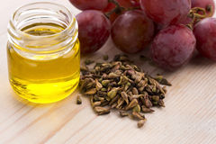 Grape seed oil Royalty Free Stock Images