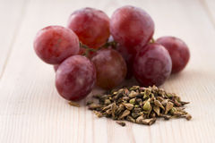 Grape seed oil Royalty Free Stock Photography