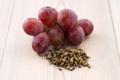 Grape seed oil Stock Photography