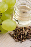 Grape seed oil Stock Image