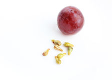 Grape Seed and Ripe Grape Royalty Free Stock Photo