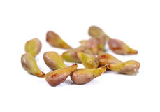 Grape seeds on white background Stock Photography