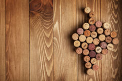 Grape shaped wine corks Royalty Free Stock Photo