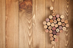Grape shaped wine corks Stock Images
