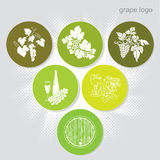 Grape sign (icons) Stock Photos