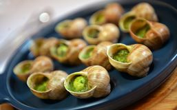 Grape snails baked with butter Royalty Free Stock Image