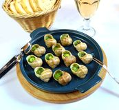 Grape snails baked Stock Photography