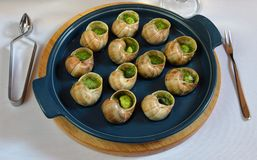 Grape snails baked Royalty Free Stock Image