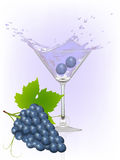 Grape splash Stock Photography