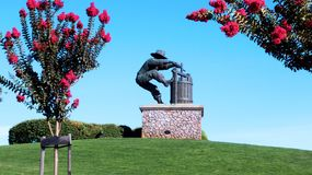 Grape Stomper at Napa Valley. Iconic statue in wine Stock Image